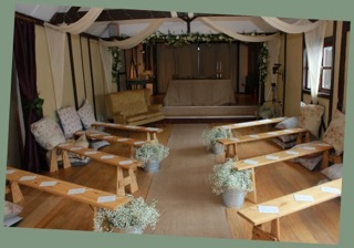 Bellows Mill Self Catering Accommodation - Barn Wedding Ceremony